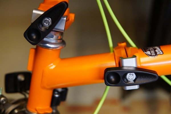 SpedDial 'no fiddly' hinge clamps kit for Brompton, first generation