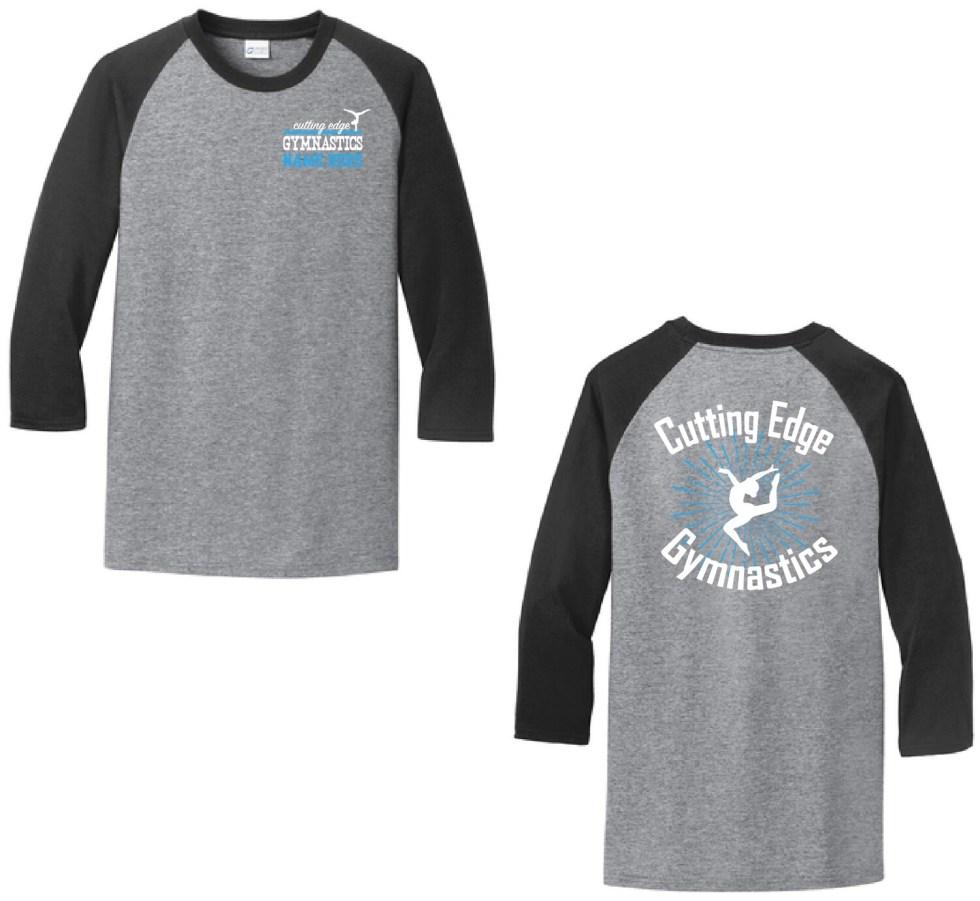 Cutting Edge Gymnastics Baseball Style Shirt
