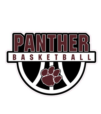 Portville Panthers Basketball Sticker