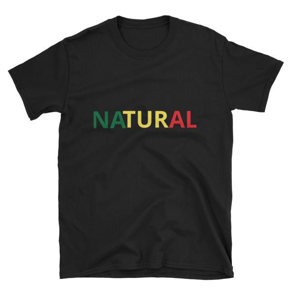 """Short-Sleeve Unisex """"Natural"""" T-shirt 00006"""
