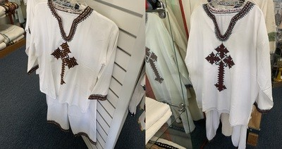 Ethiopian Traditional Dress | Men | Cross |  Shirt and Pants