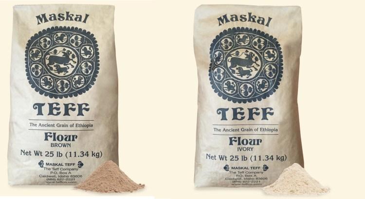 Teff flour |  የጤፍ ዱቄት | ሰርገኛ ወይም ቀይ 00041