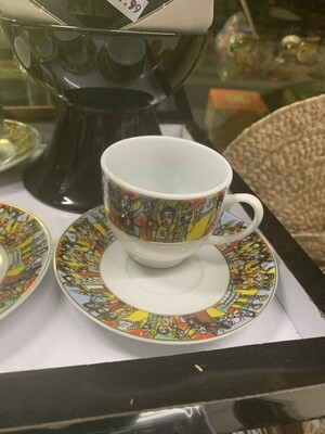Ethiopian Coffee cup and saucer