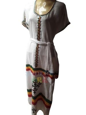 የኢትዮጲያ ባንዲራ ያለው የሴቶች  ረጅም ቀሚስ Ethiopian Women Long  Dress / free size