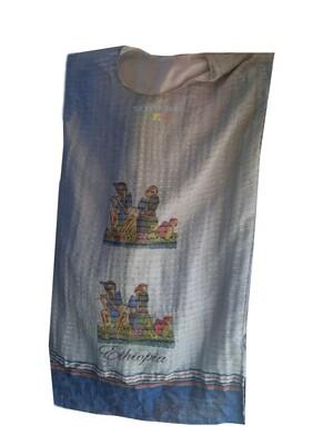 አጓጉል የሀበሻ ቀሚስ  Ethiopian Traditional Midi Dress
