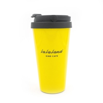 Yellow Logo Travel Mug