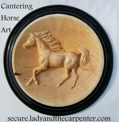 Cantering Horse 3D Wall Art
