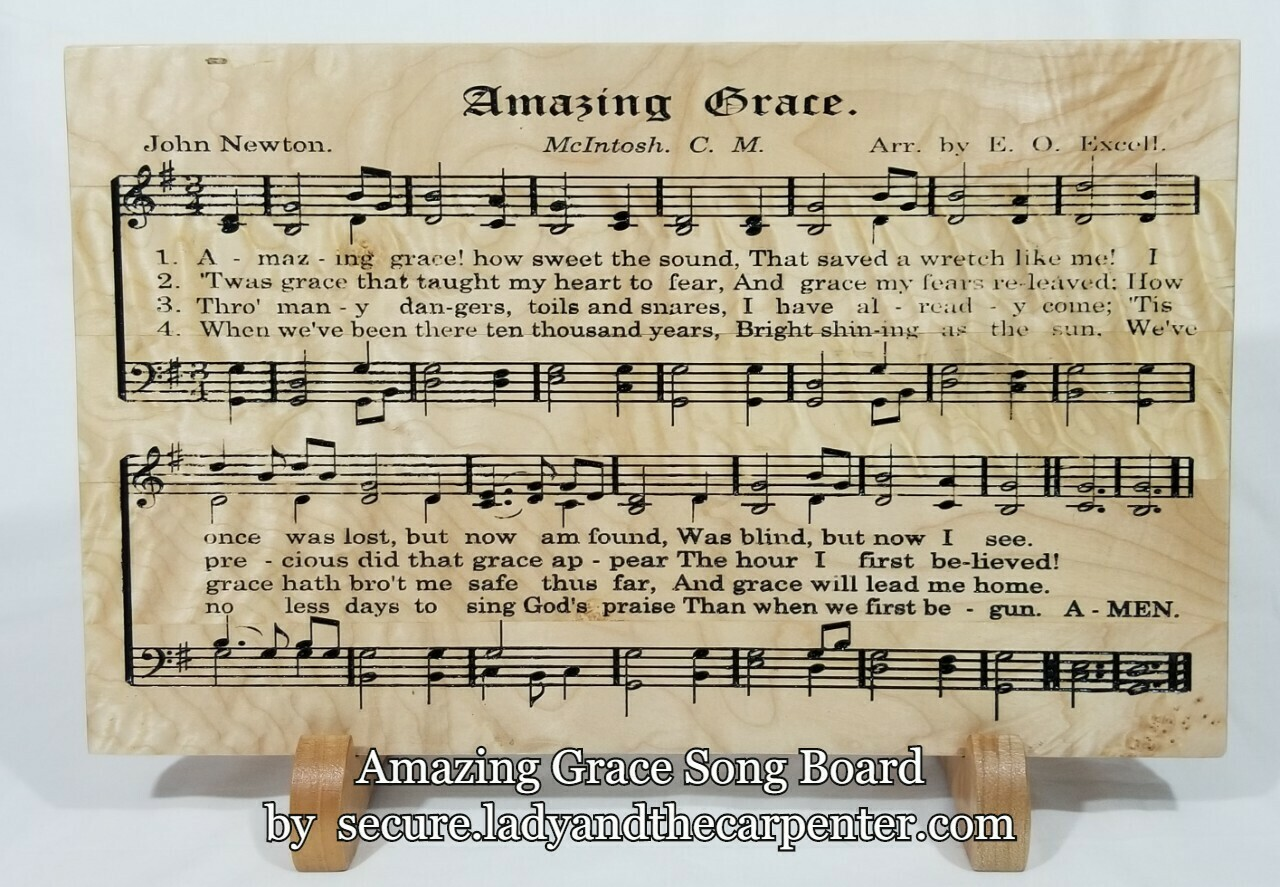 Song Boards:  Wooden Wall Art, Gift for music lovers, Classic Hymns on Wood