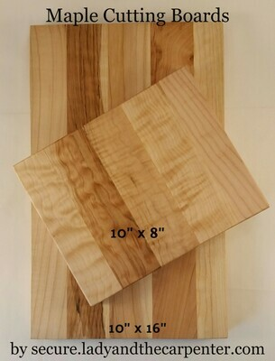 Cutting Board: Maple Large and Small