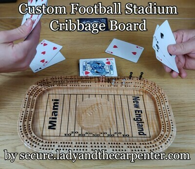 Custom Football Stadium Cribbage Board