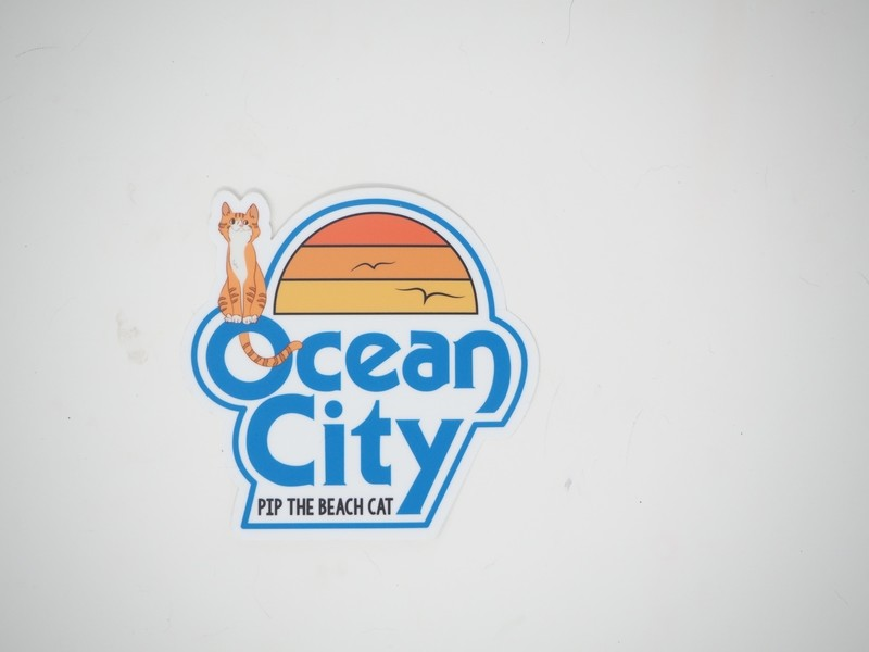 Pip and the Classic Ocean City Logo Sticker 4