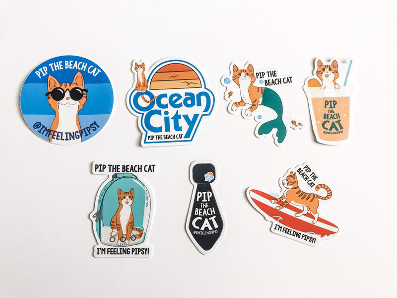 Small Pip Stickers 7-Pack