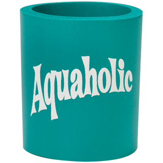 Can Cooler - Aquaholic - Teal/White
