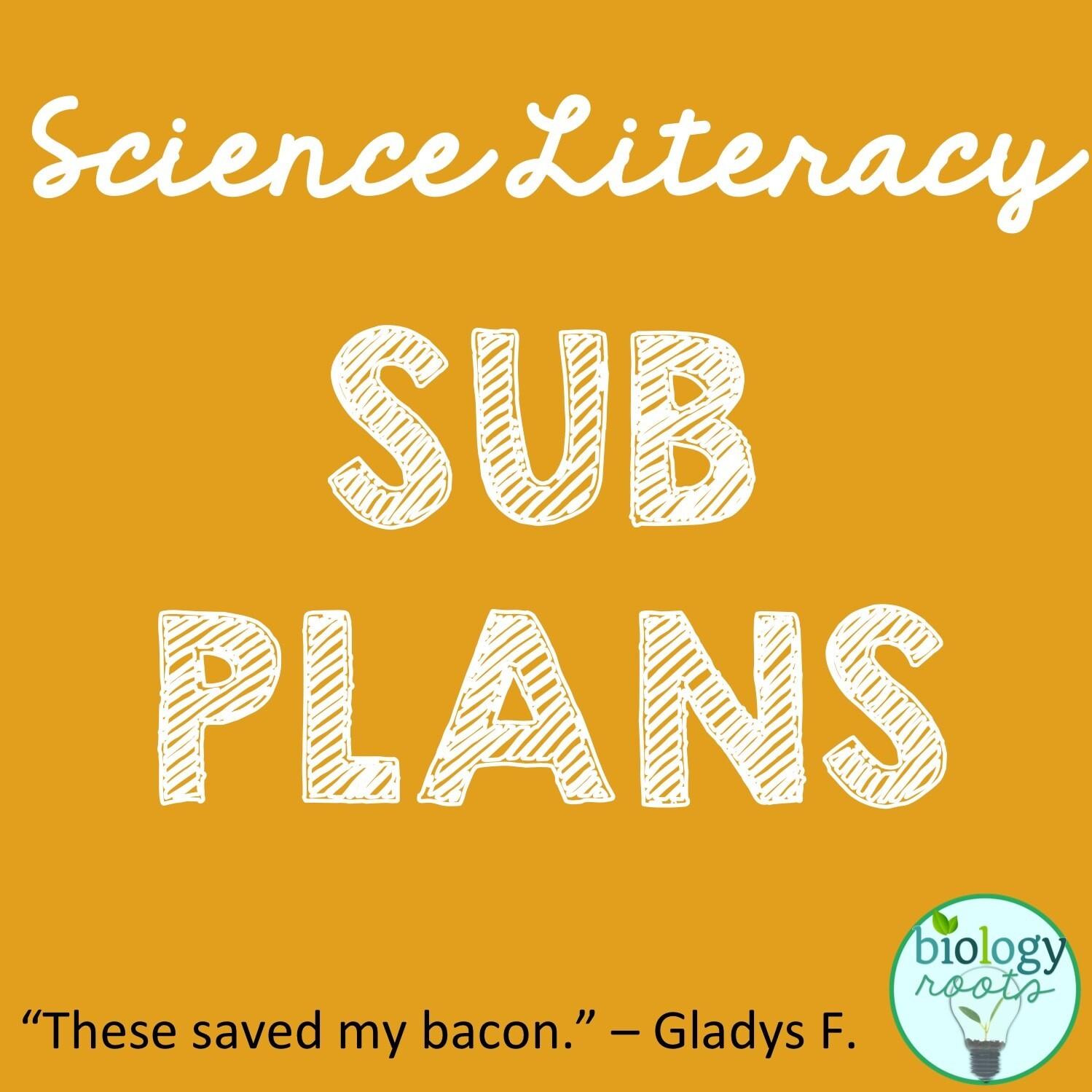 Science Literacy Sub Plans Bundle