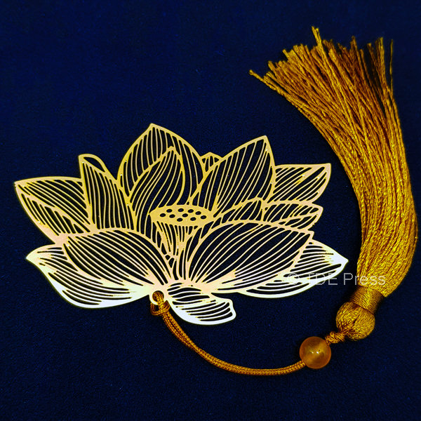 Golden Lotus Bookmark 1