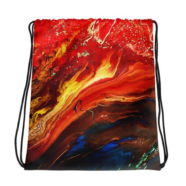 Cano Crystalis Art Printed Drawstring bag