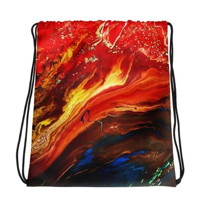 Cano Crystalis Art Printed Drawstring bag