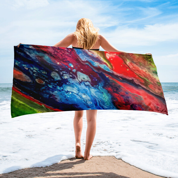 The Colors of the Wind Printed Towel