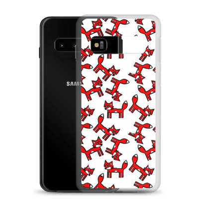 White Foxes Samsung Case