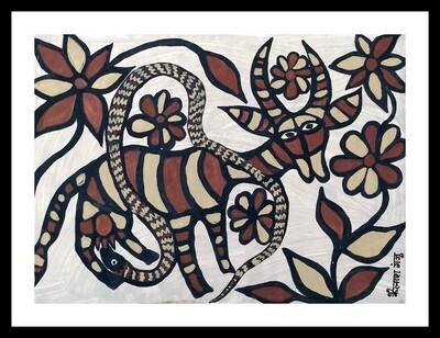 Sohrai Painting - Cow (30x22 in)