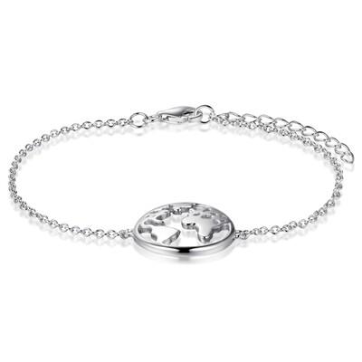 Sterling Silver Globetrotter Bracelet