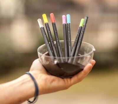 Perpetua Μολύβι από 80% Γραφίτη με γώμα σε 10 χρώματα
