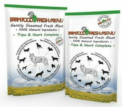 BIO-BITES FARMFOOD FRESH MENU TRIPE & HEART 300GR