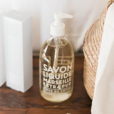 Compagnie De Provence 500ml Cotton Flower, Extra Pur Liquid Marseille soap