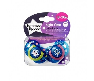 18-36 NIGHT ORTHODONTIC SOOTHER X2
