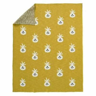 Fresk  - Knitted blanket 80 x 100 cm Pineapple mustard