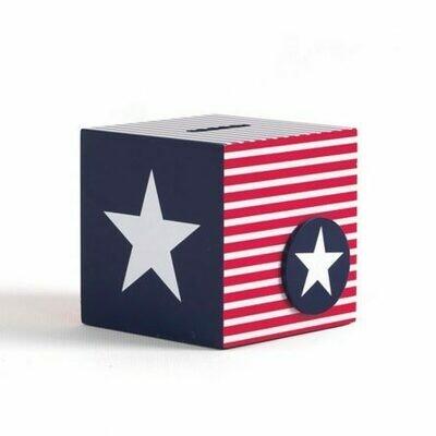 MONEY BOX NAVY STAR