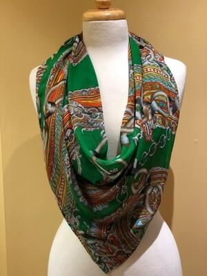 Paisley Chiffon small scarf