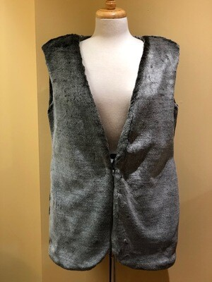 Faux Fur Grey Puma Vest