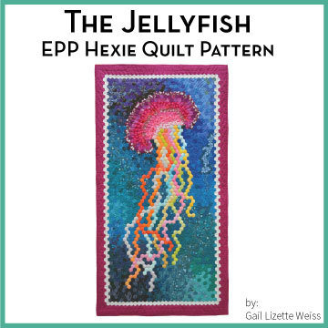Hexie Jellyfish Quilt Pattern QP00011