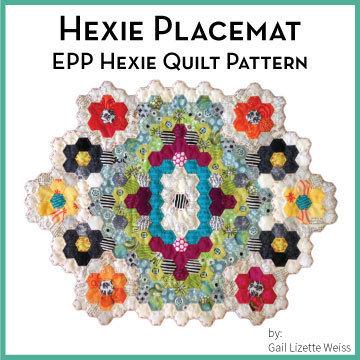 Hexie Placemat Quilt Pattern - PDF QP00015