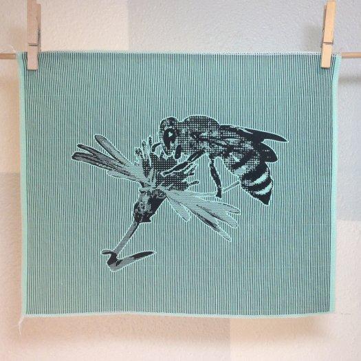 Honeybee fabric panel