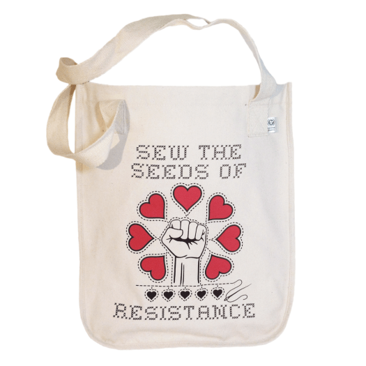 Sew The Seeds Of Resistance - Organic Market Tote TB00101