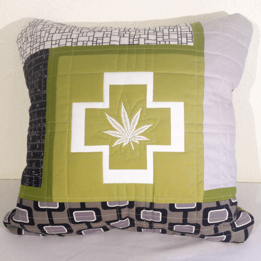 Quilted Cannabis Pillow Cover No.2 HM0011