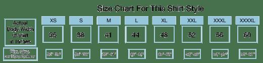 Size Chart - Size XXL