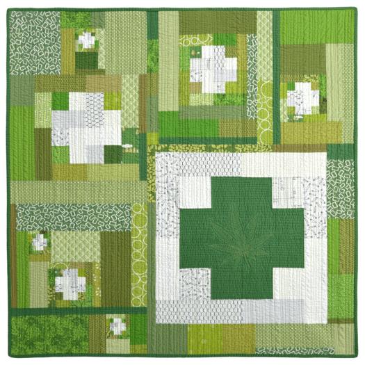 Green Cross Series Wall Quilt No.2 HM0018