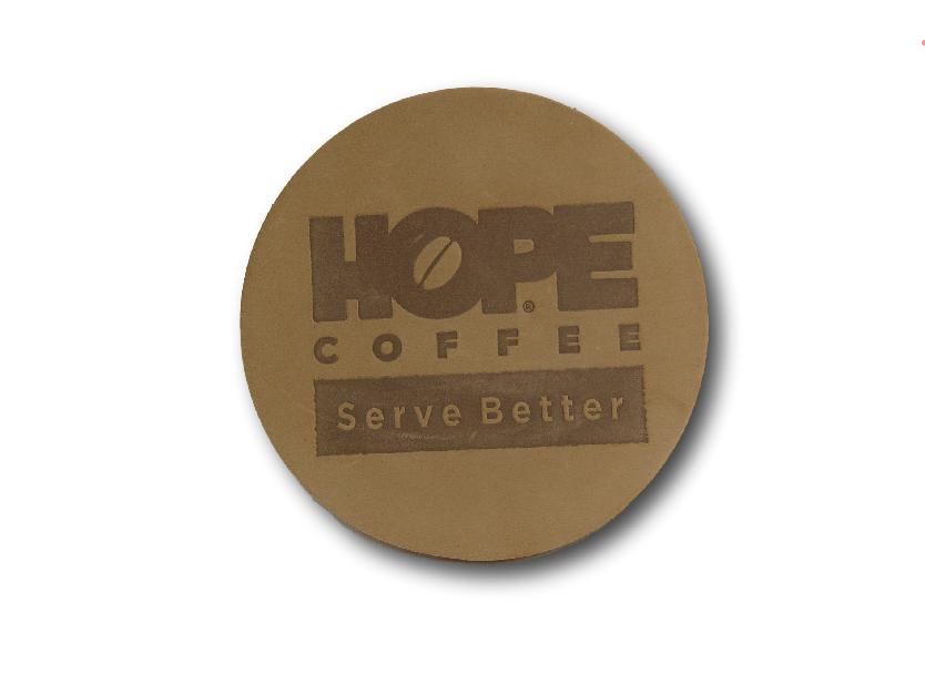 HOPE Coffee Leather Coaster