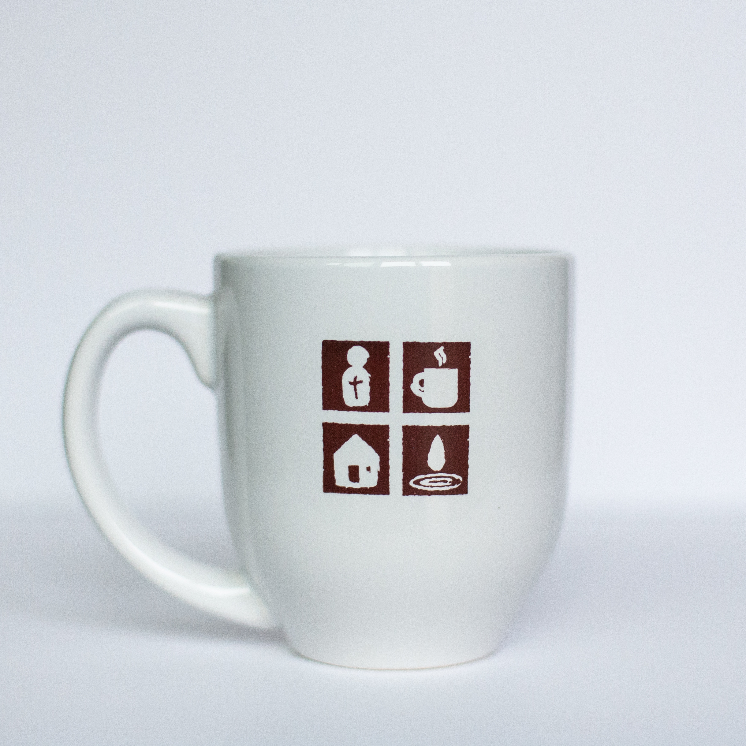 HOPE Coffee 16 oz White Ceramic Mug