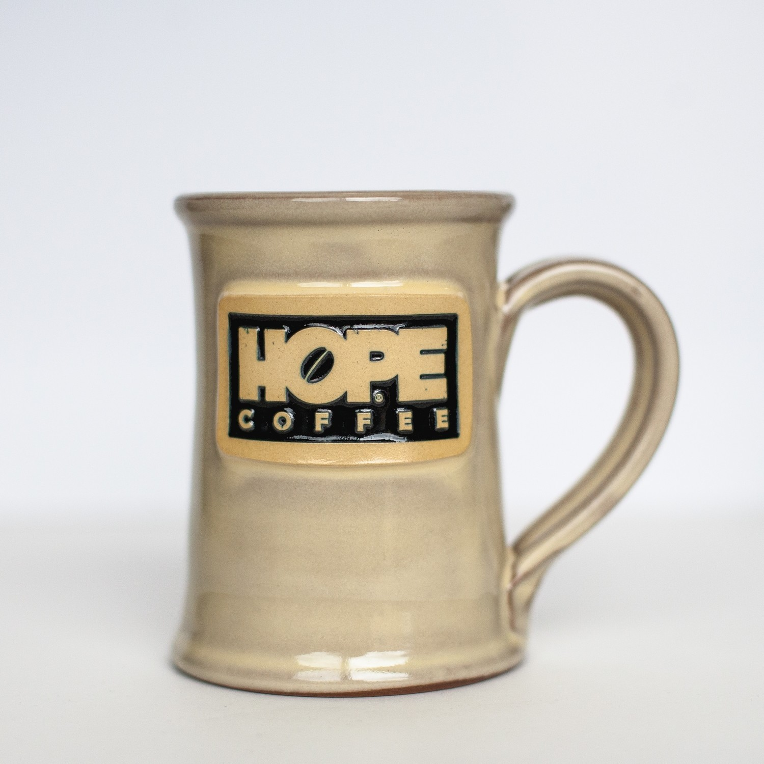 HOPE Coffee 12 oz Handcrafted Stoneware Mug - Jr Executive Style Butter Glaze