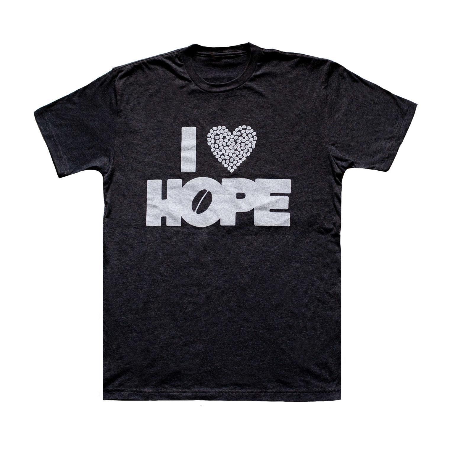T-Shirts: I Heart HOPE (Charcoal)