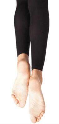 1917X 2-6 BLK Footless tights