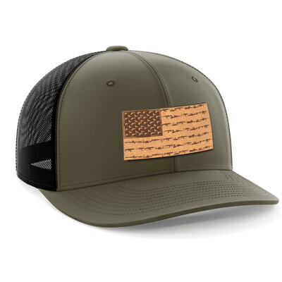 Hat - Leather Patch: Amerigun Flag