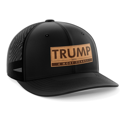 Hat - Leather Patch: Trump - 4 More Years