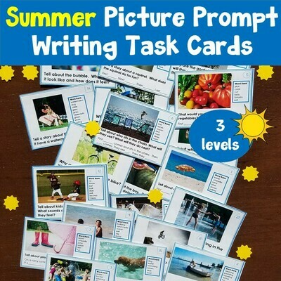 Summer Picture Writing Prompt Task Cards