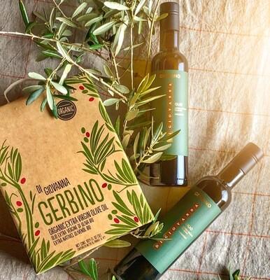 Confezione regalo olio extra vergine di oliva bio GERBINO
