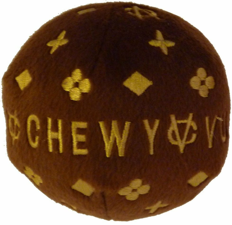 Dog Diggin Designs Chewy Vuiton Ball Toy Small